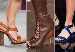 весна лето 2015 кожа обувь
