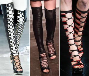 весна лето 2015 обувь со шнуровкой