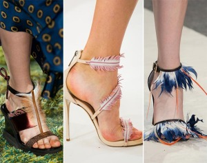 весна лето 2015 обувь с перьями