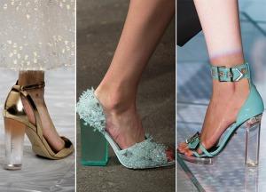 весна лето 2015 обувь с прозрачными каблуками