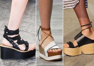 весна лето 2015 туфли на платформе
