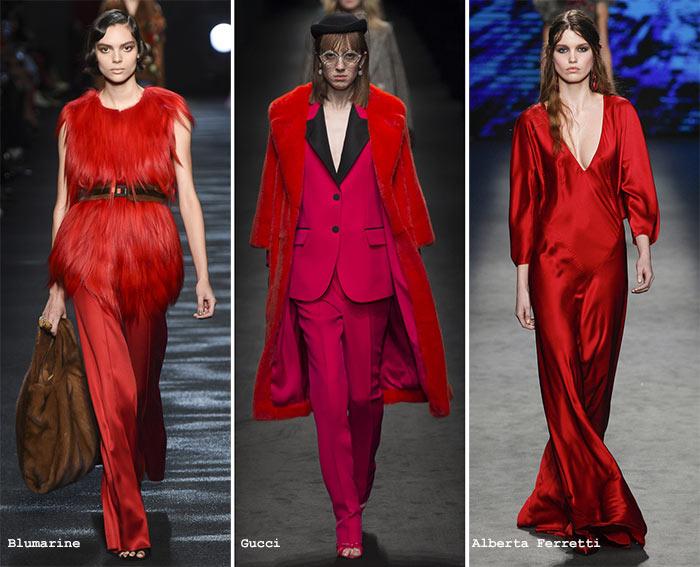 ярко-красный мода 2017