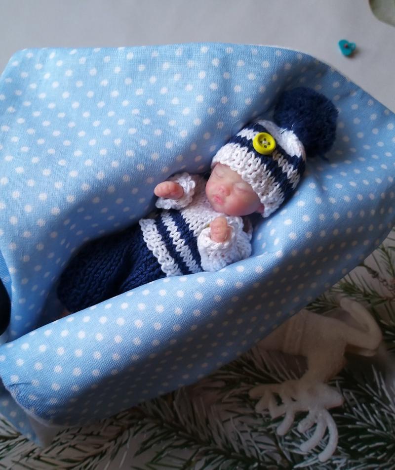 мини реборн спящий мальчик